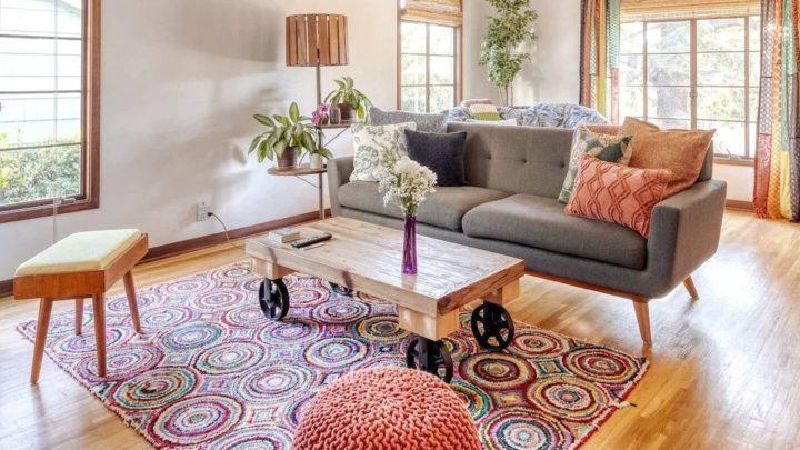 vintage livingroom - Airbnb Anaheim