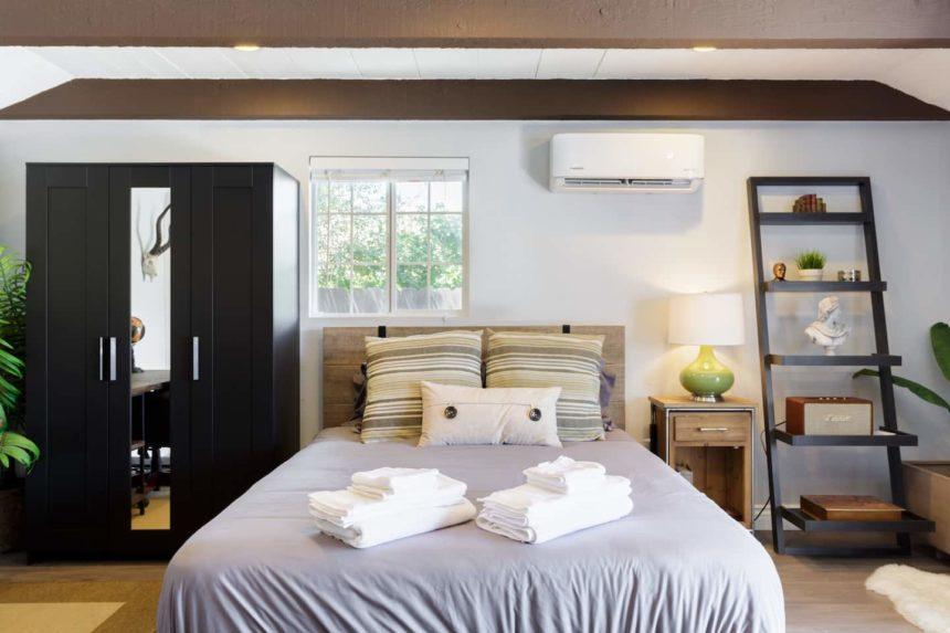 Costa Mesa Studio front bed
