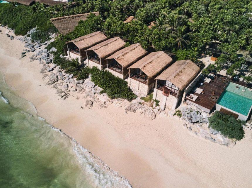 hotel beach aerial view