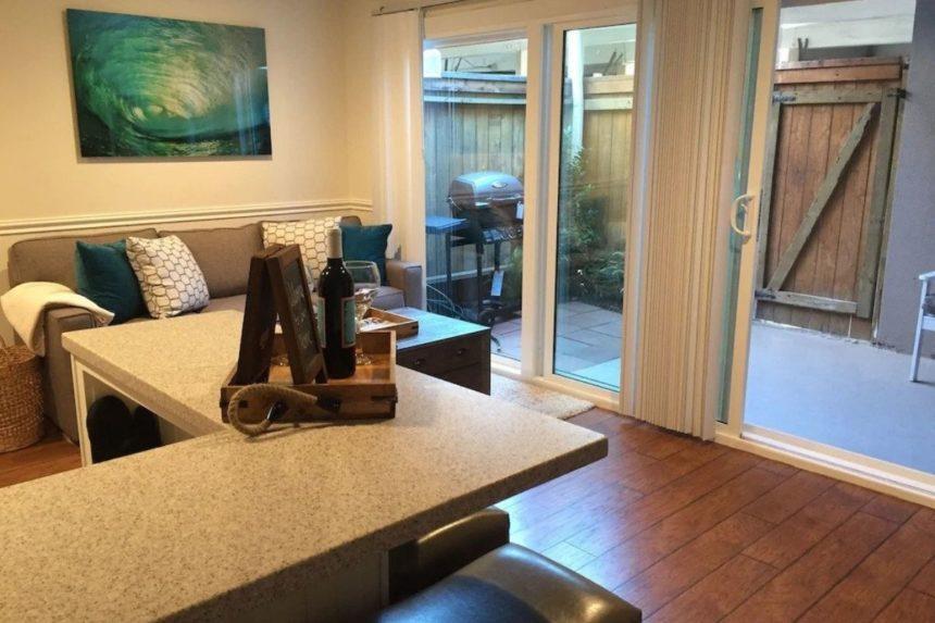 living room and veranda