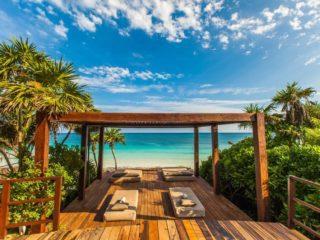 mezzanine beach club beach view