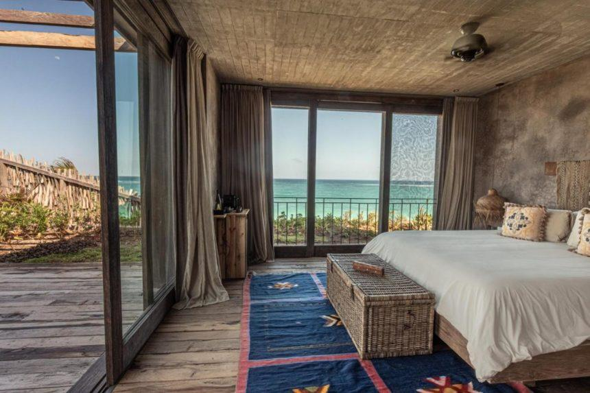 Nomade hotel room with a view in Tulum