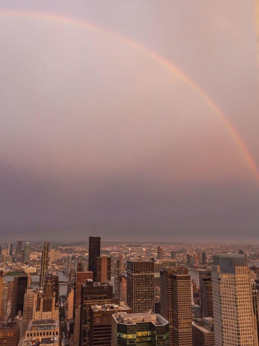 rainbow from Top of the rock