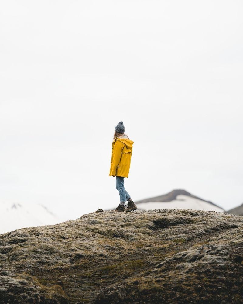 girl on a mountain