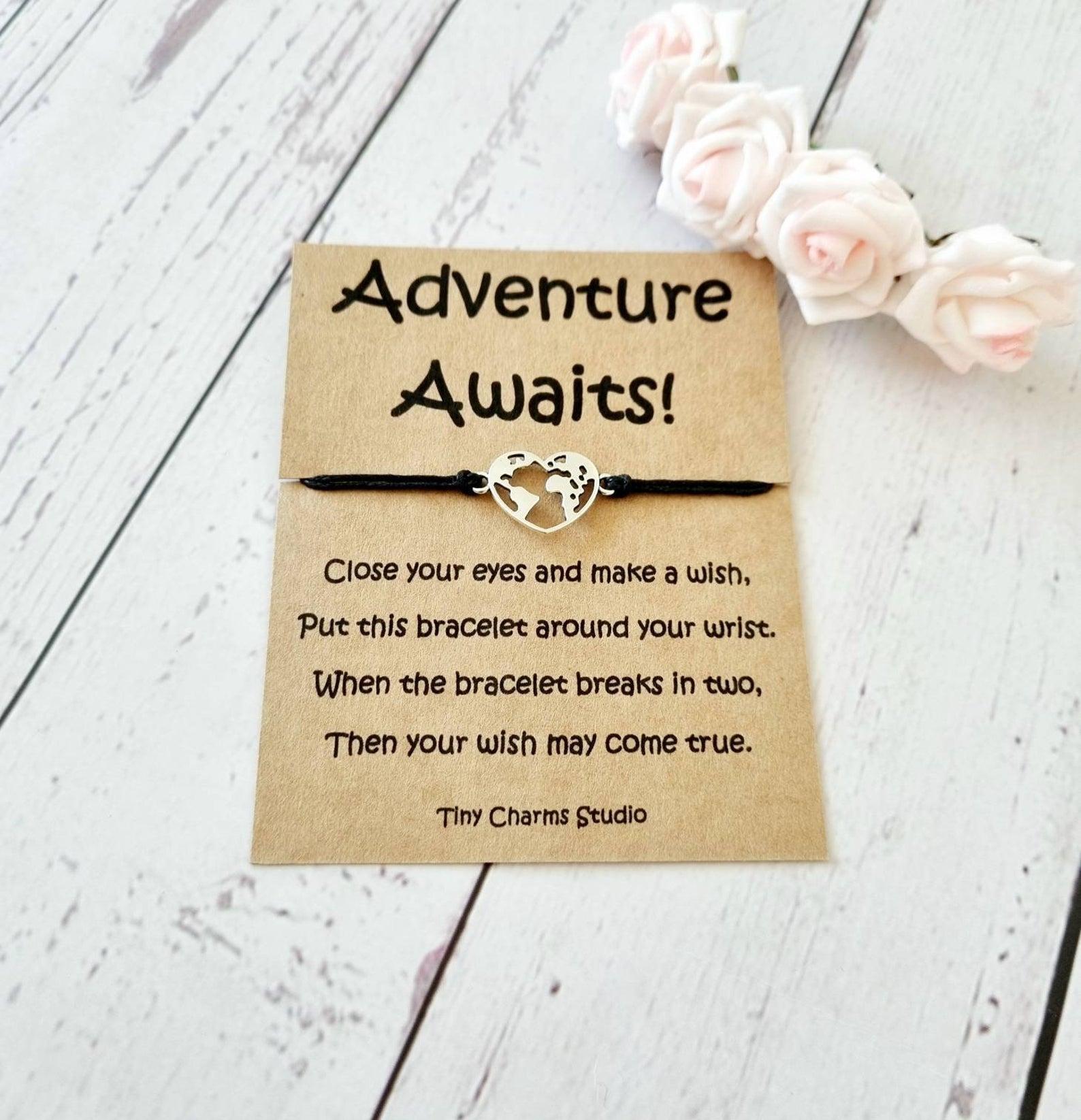 Adventure Awaits Wish Bracelet Travel Jewellery Travel Gift | Etsy