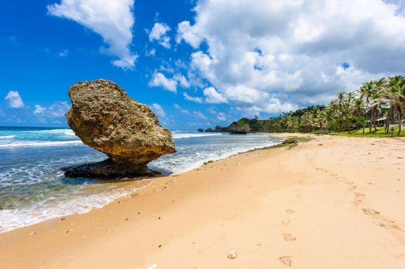 Barbados east coast beach