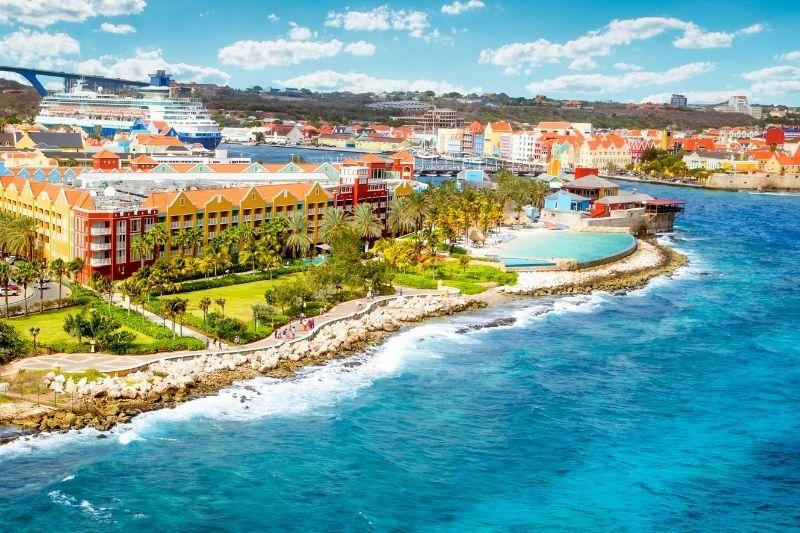 Curacao aerial view