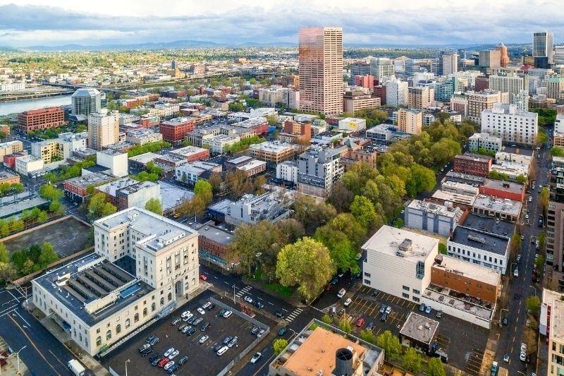 Portland Aerial view -best neighborhood in portland oregon