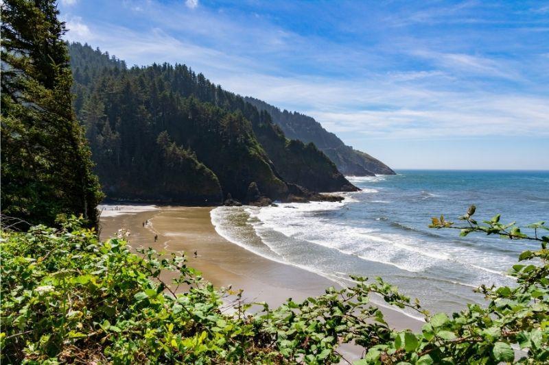 Yachats beach in Oregon USA