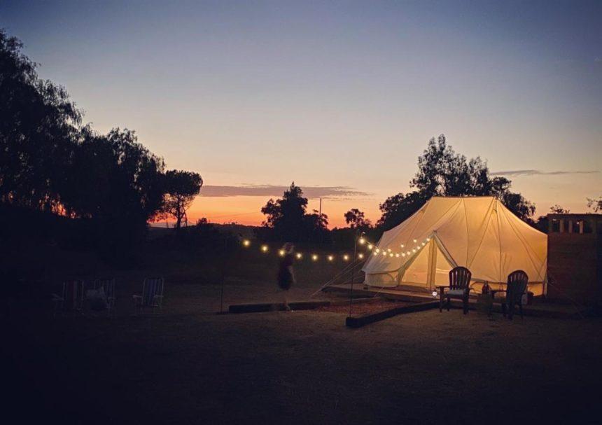 Eco camps temecula sunset