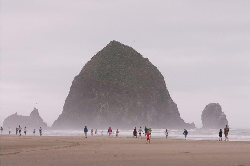 Cannon beach on a misty day