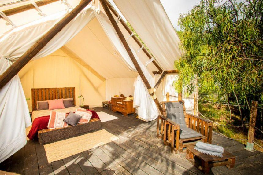 Quinta alama camp tent patio