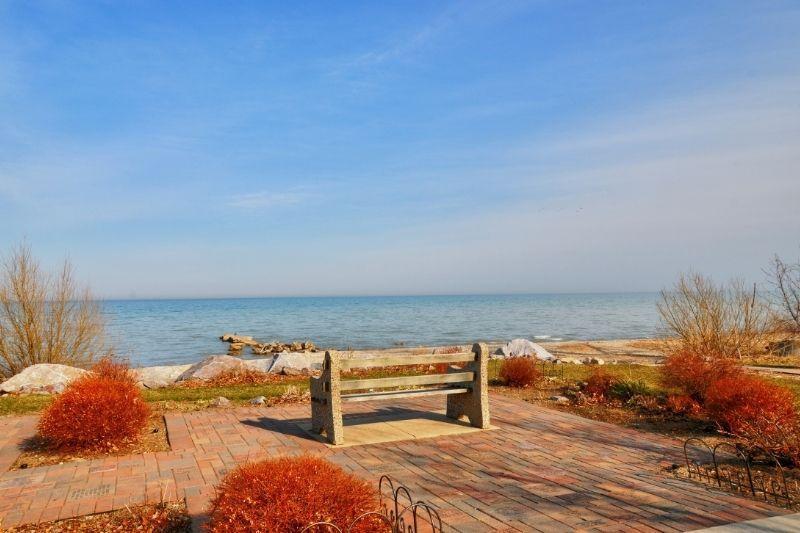 Racine beach shoreline