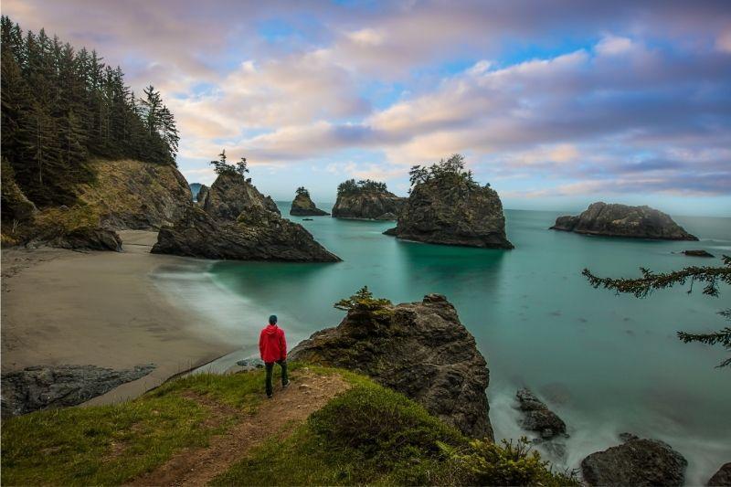 Scenic Oregon coast beach