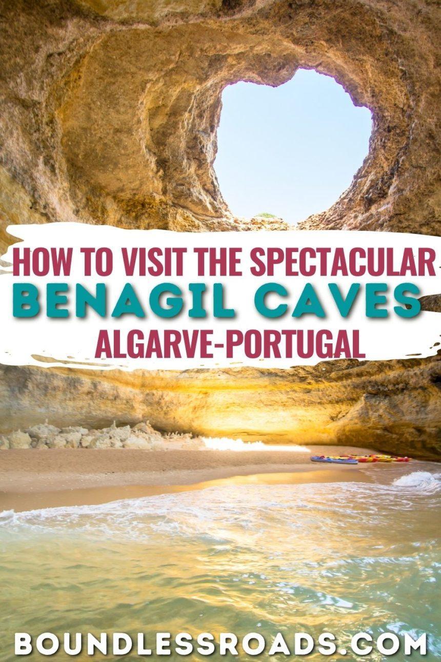 Benagil Caves Algarve pinterest graphic