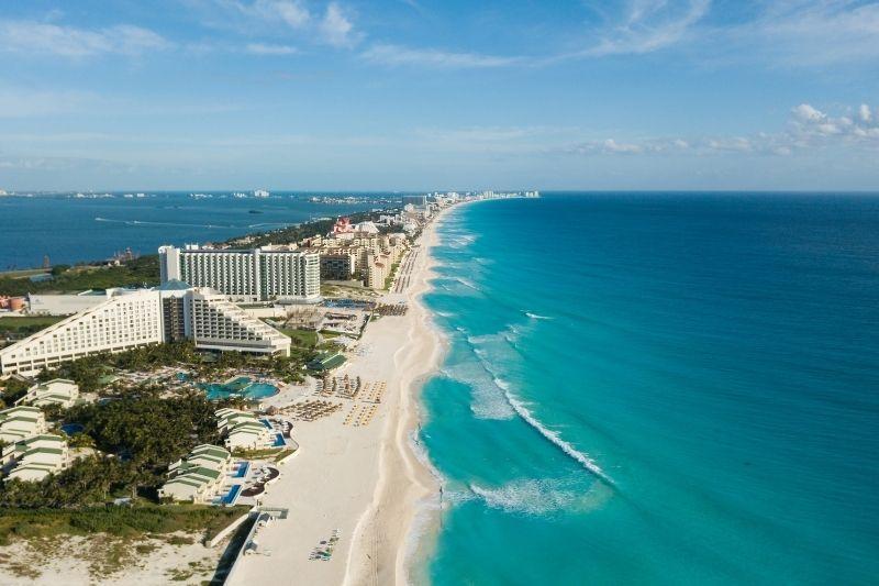 Cancun beach piramde hotel on the beach
