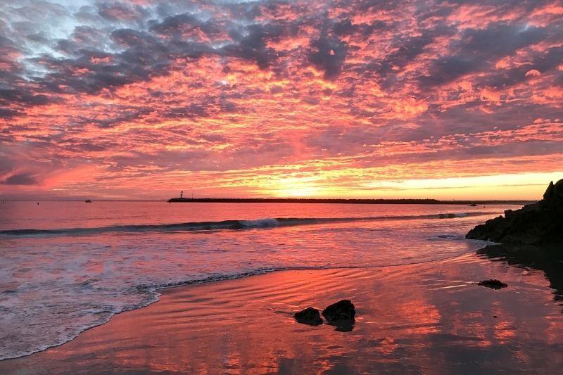 Corona del Mar beach sunset