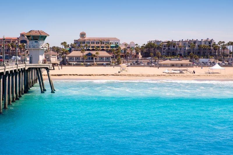 Huntington Beach aerial view Orange County California - Best Beaches in Orange County