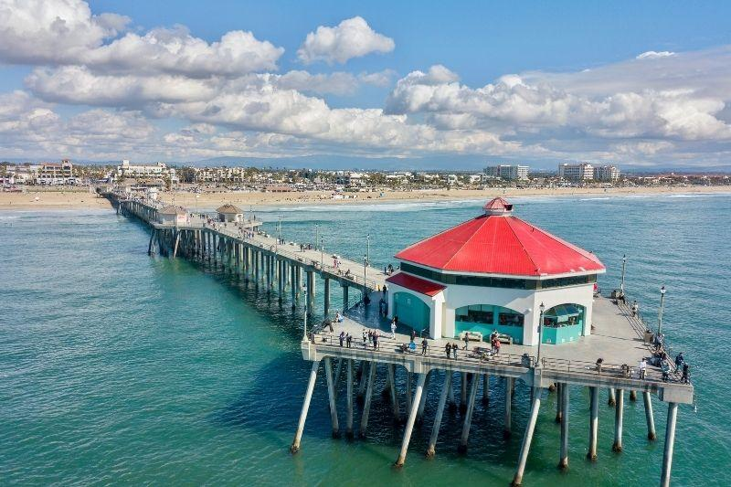 Huntington Beach Pier Aerial View