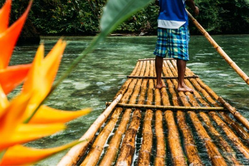 a floating device in wood on a river - Jamaica patois phrases