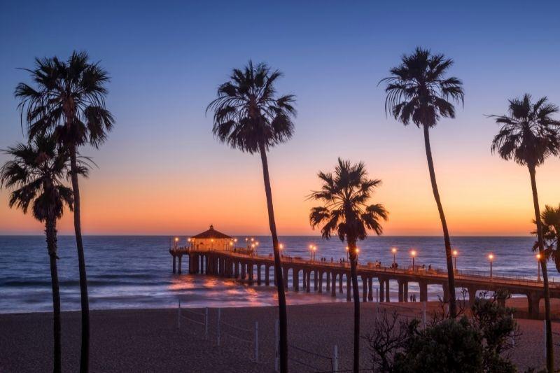 Los Angeles, beach pier