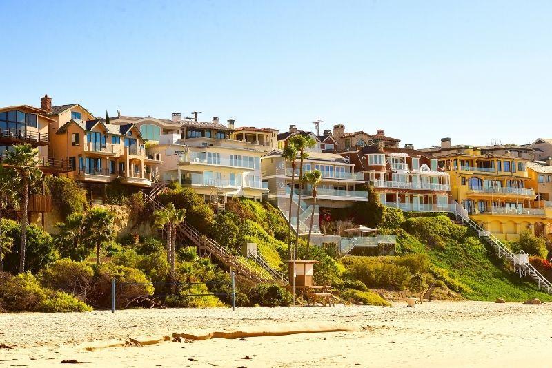 Newport Beach California - beach front houses