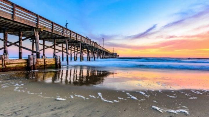 Newport Beach California - sunset from the pier