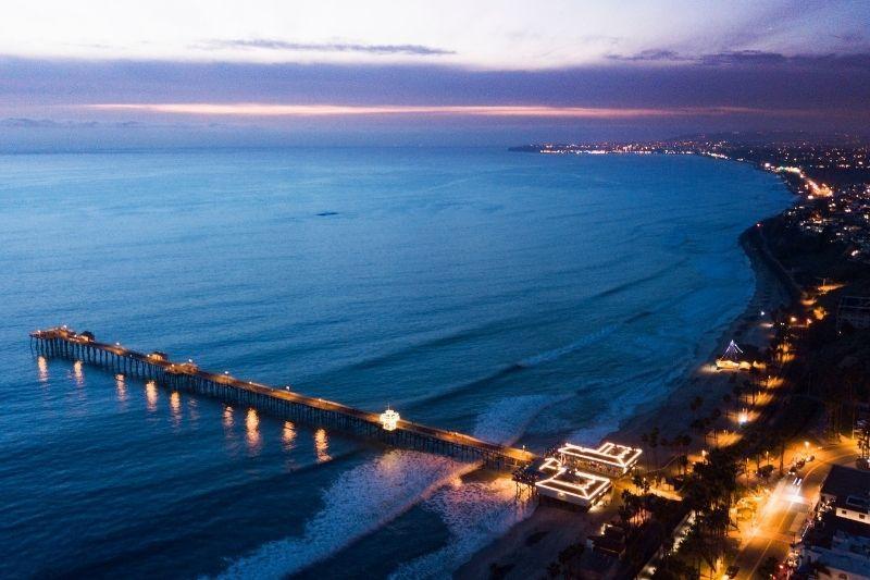 San Clemente Beach City Sunset