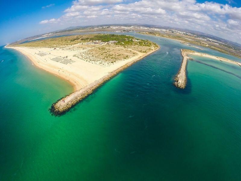 tavira island aerial view