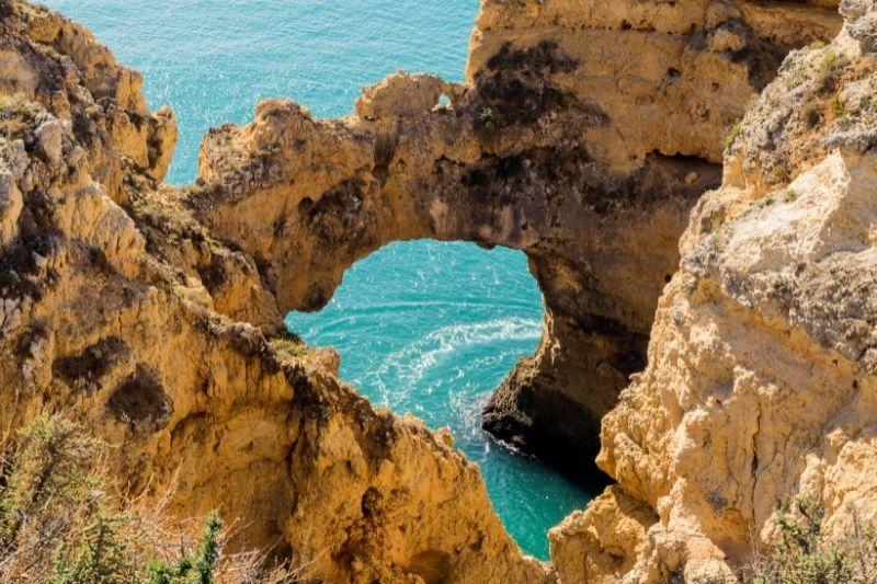 Algarve caves scenic views
