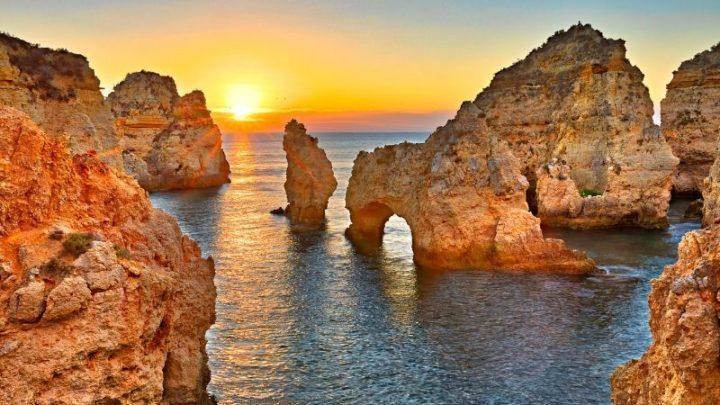 Sunset algarve praia albandera