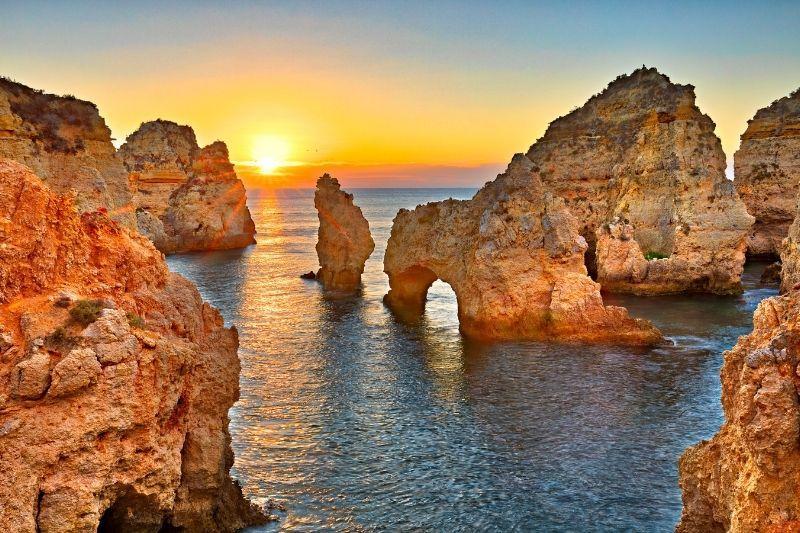 Sunset from Praia Albandera - Algarve Itinerary