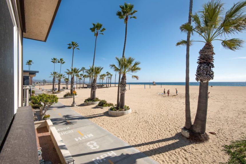 beach front house palms on the beach