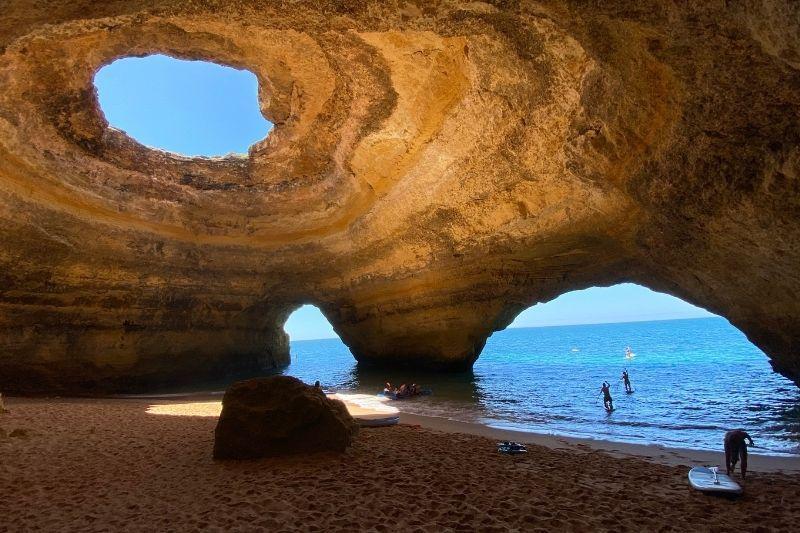 Benagil caves by paddleboarding