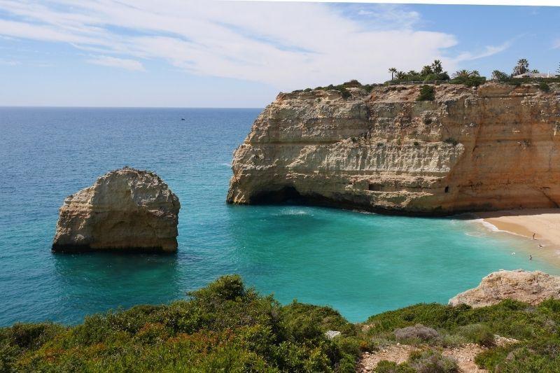 Benagil sea caves beach