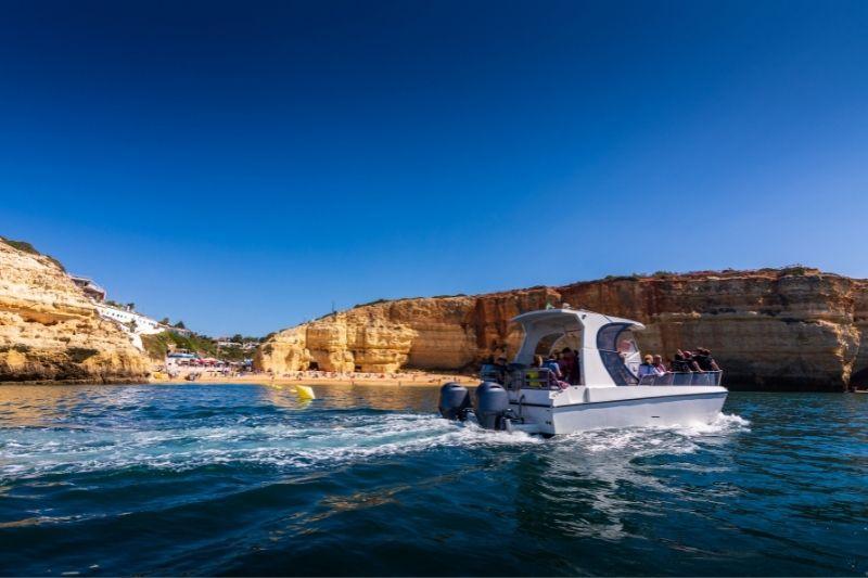 Benagil sea caves by boat