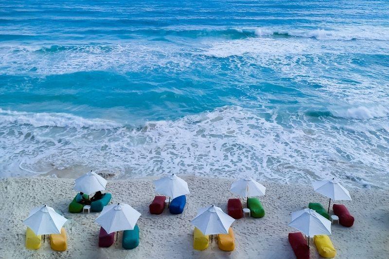 Cancun beach chairs - cancun weather in July