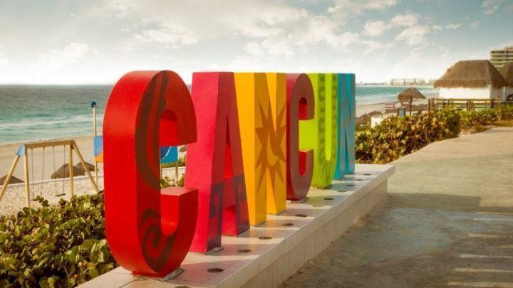 Cancun sign - cancun weather in May