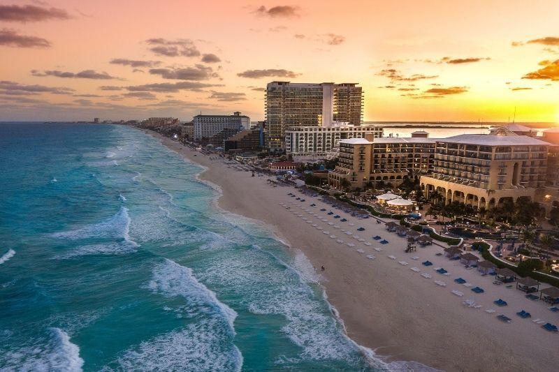 Cancun at sunset