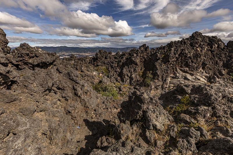 Cerro quemado peak with flag