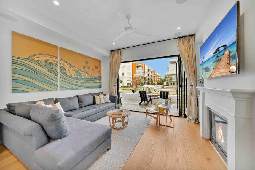 Coastal paradise living room