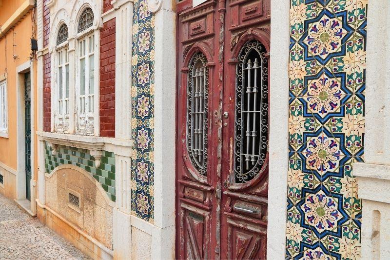tiles on a door in Faro Algarve