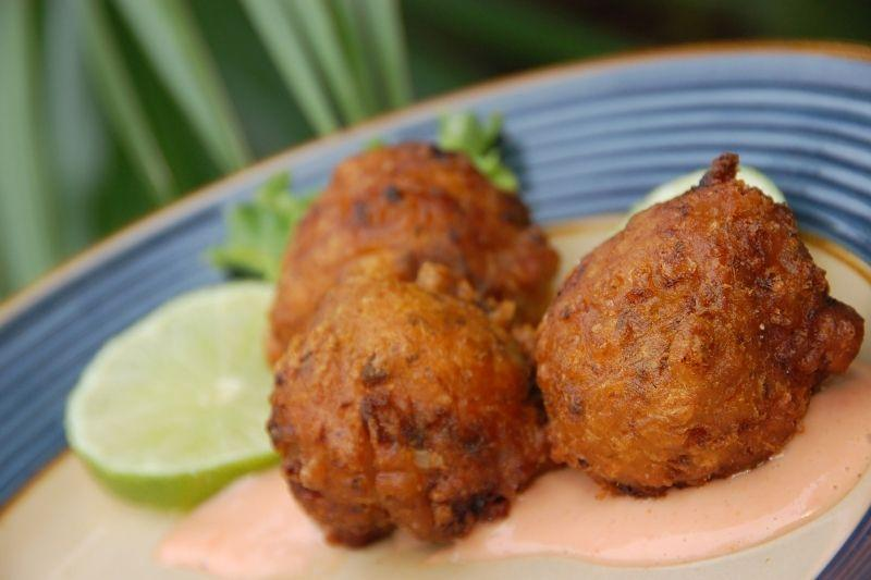 conch fritter dish