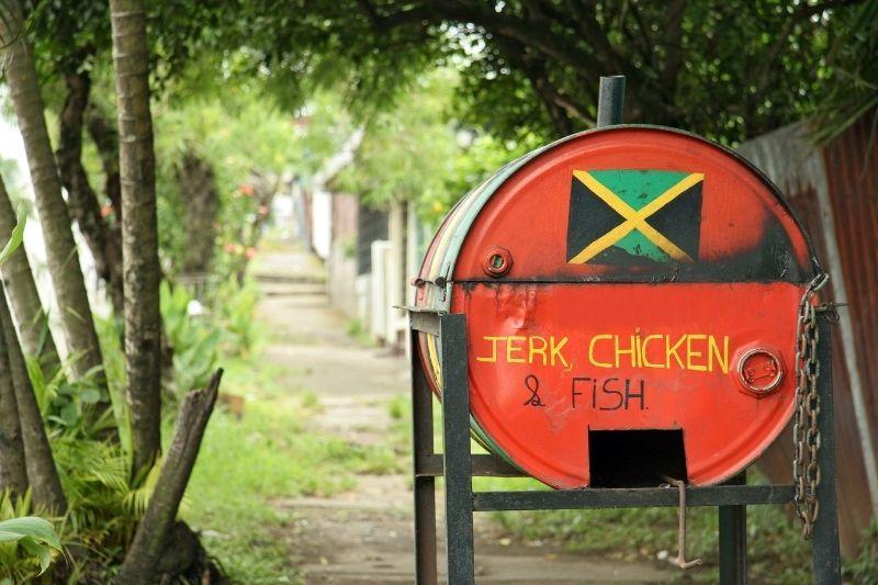 jerk-chicken shack in Jamaica
