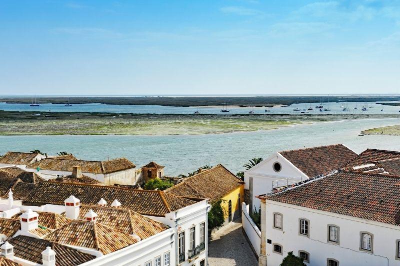 Faro algarve view of the Bay