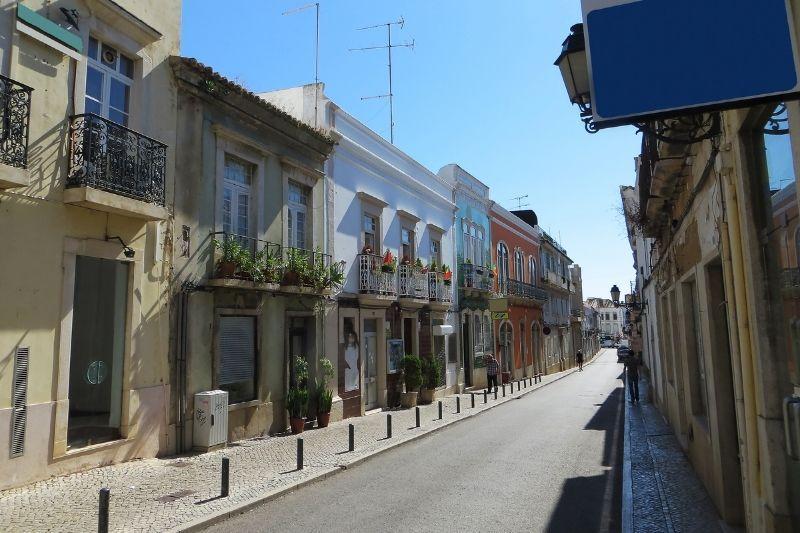 Old street in Faro algarve