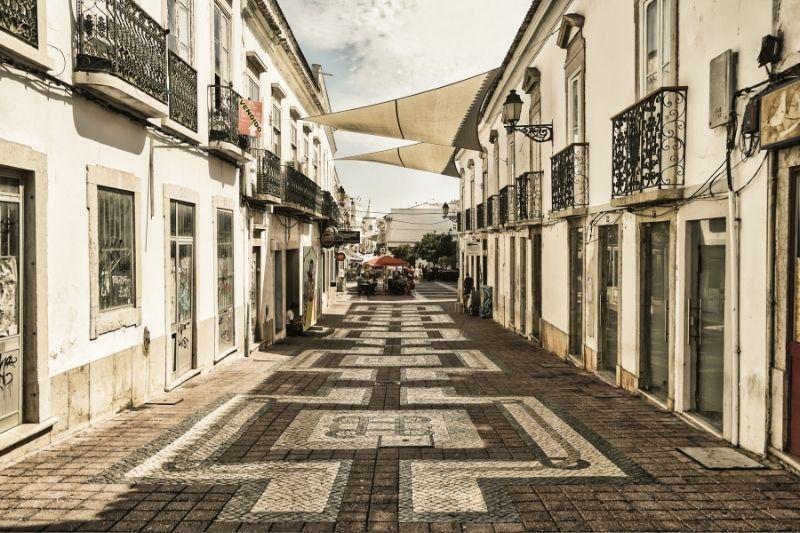 Faro algarve pedestrian road
