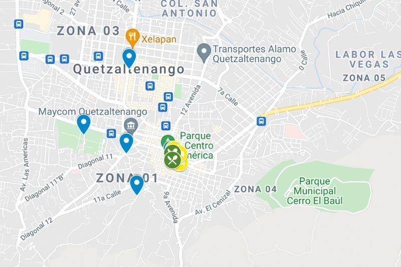 quetzlaltenango map