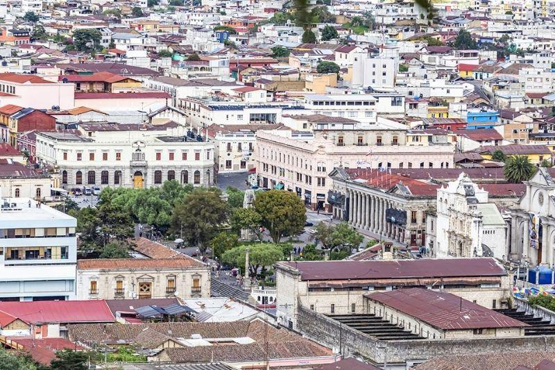 Quetzaltenango from the restaurant panorama, view