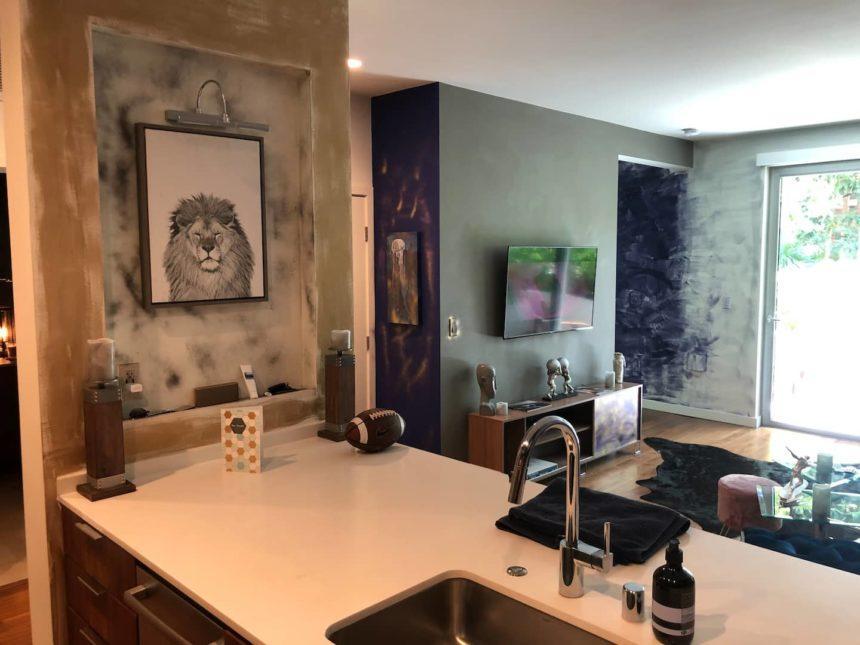 Silver surfer apartment kitchen